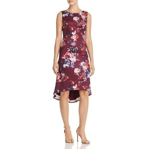 Adrianna Papell Red Floral Hi-Lo Cocktail Dress 10